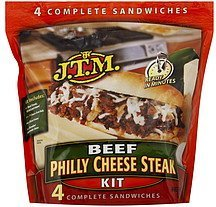 philly cheese steak kit beef J.T.M. Nutrition info