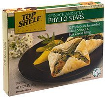 phyllo stars spinach and feta Top Shelf Nutrition info