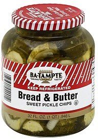 pickle chips sweet, bread & butter Ba-Tampte Nutrition info