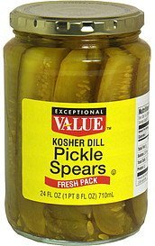 pickle spears kosher dill Exceptional Value Nutrition info