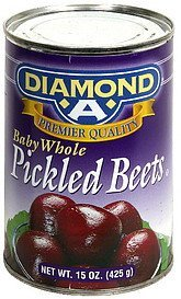 pickled beets baby whole Diamond A Nutrition info