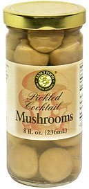 pickled cocktail mushrooms Fanci Food Nutrition info