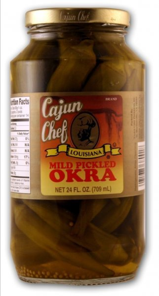 pickled okra Cajun Chef Nutrition info