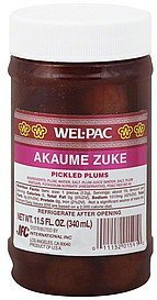 pickled plums Wel-pac Nutrition info
