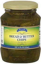 pickles bread & butter chips Pampa Nutrition info