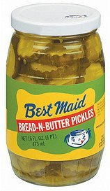 pickles bread-n-butter Best Maid Nutrition info