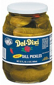 pickles dill hot Del-Dixi Nutrition info