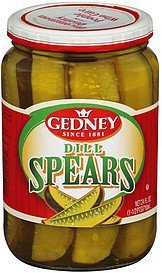 pickles dill spears Gedney Nutrition info