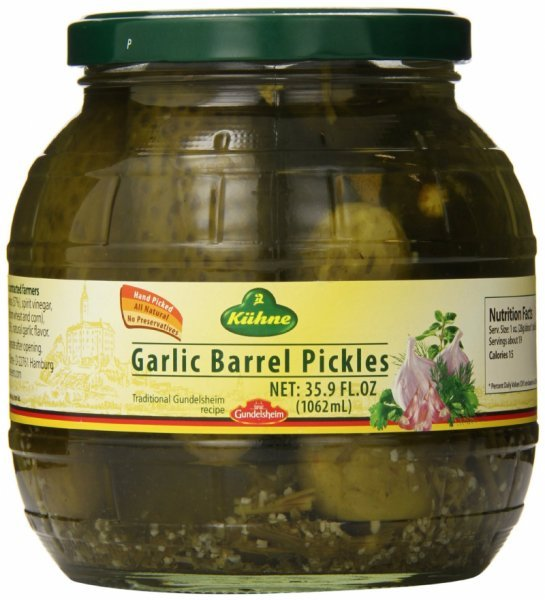 pickles garlic, barrel Gundelsheim Nutrition info