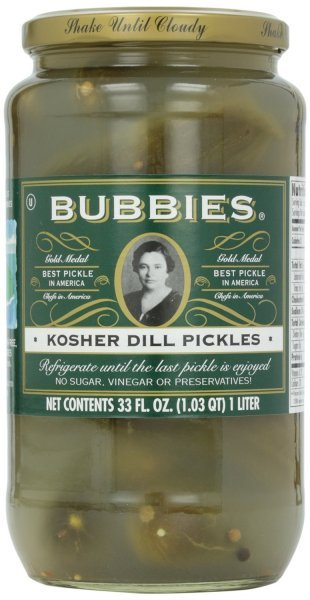 pickles kosher dill Bubbies Nutrition info