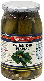 pickles polish dill Agrofruct Nutrition info