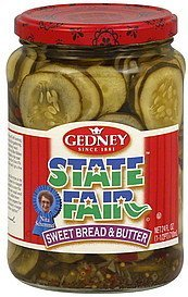 pickles sweet bread & butter Gedney Nutrition info