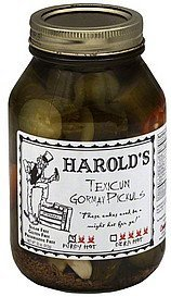 pickles texicun gormay, purdy hot Harolds Nutrition info