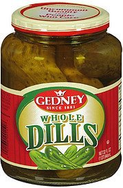 pickles whole dill Gedney Nutrition info