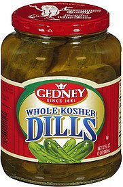 pickles whole kosher dills Gedney Nutrition info