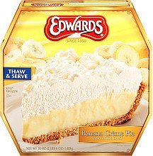 pie banana creme Edwards Nutrition info