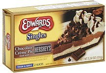 pie chocolate creme, made with hershey's Edwards Nutrition info