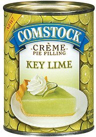 pie filling creme key lime Comstock Nutrition info