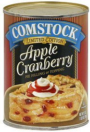 pie filling or topping apple cranberry Comstock Nutrition info