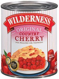 pie filling or topping original country cherry Wilderness Nutrition info
