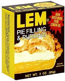 pie filling & pudding LEM Nutrition info