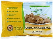 pierogies homestyle multigrain, cheddar cheese & potato Living Right Nutrition info
