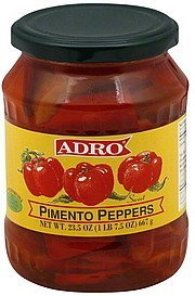 pimento peppers Adro Nutrition info