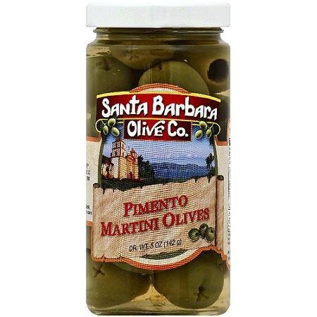 pimento stuffed martini olives Santa Barbara Olive Co. Nutrition info
