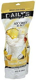 pina colada frozen Dailys Nutrition info