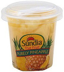 pineapple chunks in light syrup Sundia Nutrition info