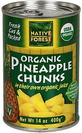 pineapple chunks organic, in their own organic juice Native Forest Nutrition info