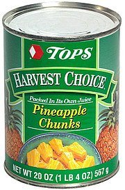 pineapple chunks Hy Tops Nutrition info