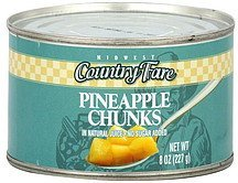 pineapple chunks Midwest Country Fare Nutrition info