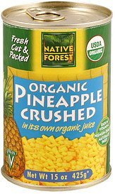 pineapple crushed, organic Native Forest Nutrition info