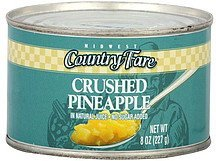 pineapple crushed Midwest Country Fare Nutrition info
