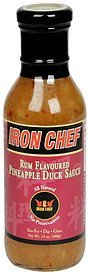 pineapple duck sauce rum flavored Iron Chef Nutrition info