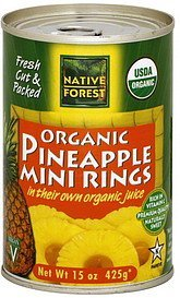 pineapple mini rings organic Native Forest Nutrition info