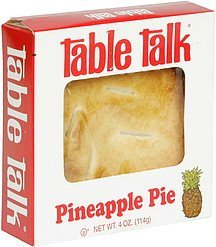 pineapple pie Table Talk Nutrition info