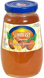 pineapple preserves Sunberry Farms Nutrition info