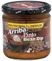 pinto bean dip chipotle, medium Arriba! Nutrition info