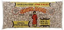 pinto beans dried China Doll Nutrition info