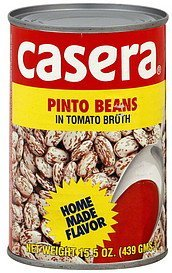 pinto beans in tomato broth Casera Nutrition info