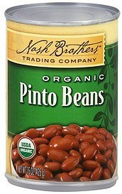pinto beans organic Nash Brothers Trading Company Nutrition info