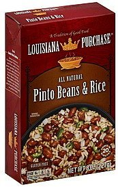 pinto beans & rice Louisiana Purchase Nutrition info