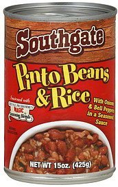 pinto beans & rice Southgate Nutrition info