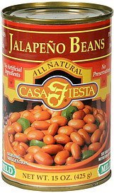pinto beans with jalapeno mild Casa Fiesta Nutrition info
