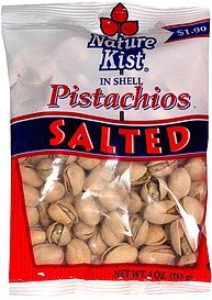 pistachios in shell salted Nature Kist Nutrition info