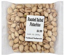 pistachios roasted salted Valued Naturals Nutrition info