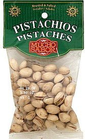 pistachios roasted & salted Mucho Sabor Nutrition info