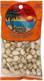 pistachios salted Island Snacks Nutrition info
